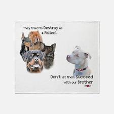 Save the Pitbull Throw Blanket