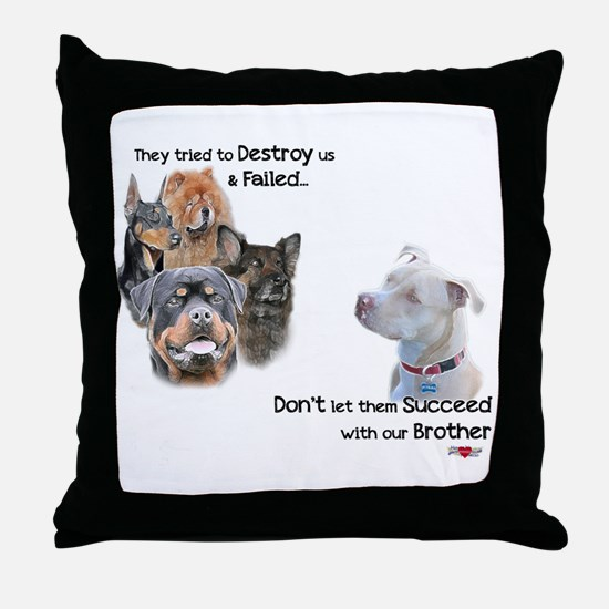 Save the Pitbull Throw Pillow