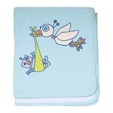 Robot Baby Delivery! baby blanket