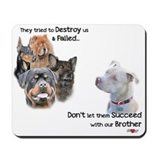 Save the Pitbull Mousepad