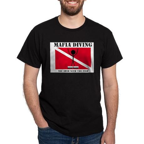 Italian Mafia Mob love diving gifts Black T-Shirt