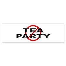 Anti / No Tea Party Bumper Sticker