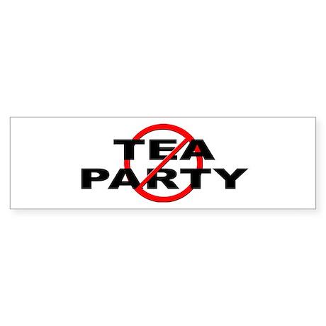 Anti / No Tea Party Sticker (Bumper)