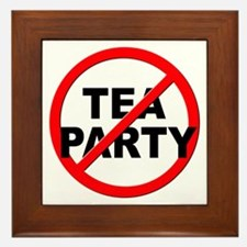 Anti / No Tea Party Framed Tile