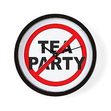 Anti / No Tea Party Wall Clock