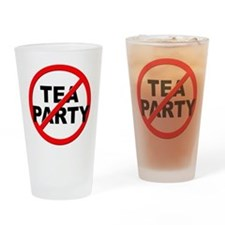 Anti / No Tea Party Drinking Glass