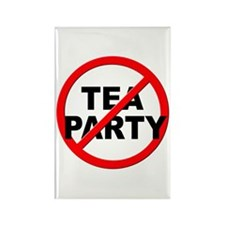 Anti / No Tea Party Rectangle Magnet