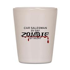 Car Salesman Zombie Shot Glass