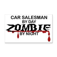 Car Salesman Zombie Rectangle Car Magnet