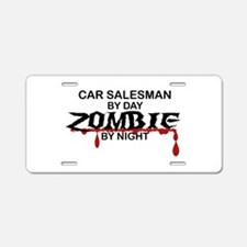 Car Salesman Zombie Aluminum License Plate