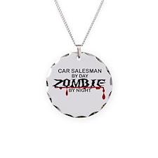 Car Salesman Zombie Necklace Circle Charm
