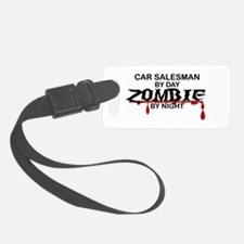 Car Salesman Zombie Luggage Tag