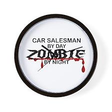 Car Salesman Zombie Wall Clock