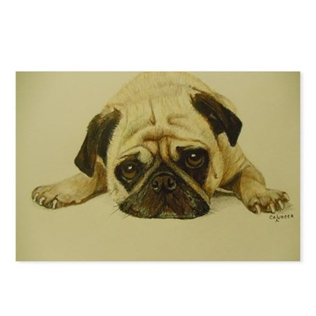 Ole Lightning the pug Postcards (Package of 8)