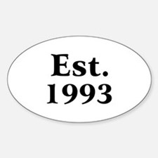 Est. 1993 Oval Decal