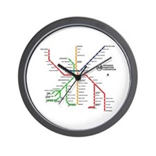 Anime Boston Subway Map Wall Clock