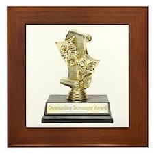 Outstanding Scrounger Framed Tile
