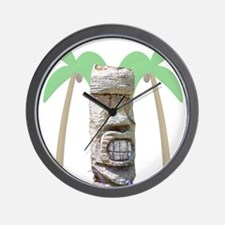 Tiki & Palm Trees Wall Clock