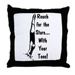 Gymnastics Throw Pillow - Stars