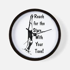 Gymnastics Wall Clock - Stars
