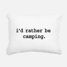 idratherbecampingblk.png Rectangular Canvas Pillow