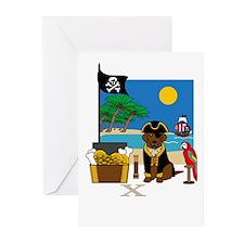 Pirate Birthday Card (Chocolate Lab)