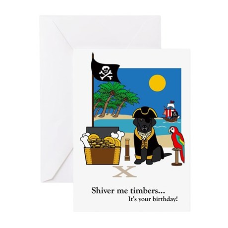 Treasured Moments Pirate Birthday Card (Black Lab)