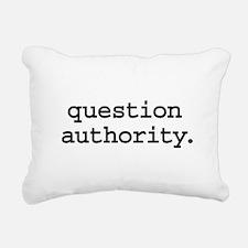 questionauthorityblk.png Rectangular Canvas Pillow