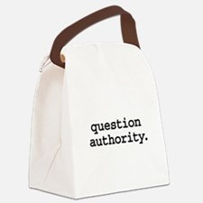 questionauthorityblk.png Canvas Lunch Bag