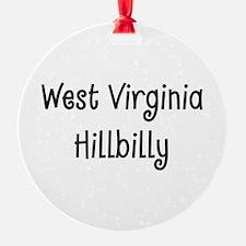West Virginia Hillbilly Ornament