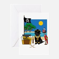 Ahoy, Matey Pirate Greeting Card (Black Lab)