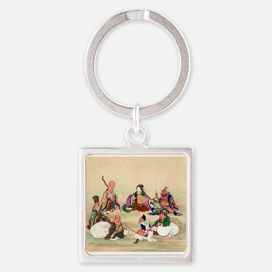 Seven gods of good luck - Anon - 1878 Keychains