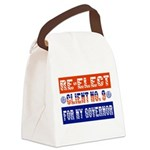 reelectclientno9gov4.png Canvas Lunch Bag