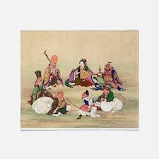 Seven gods of good luck - Anon - 1878 Throw Blanke