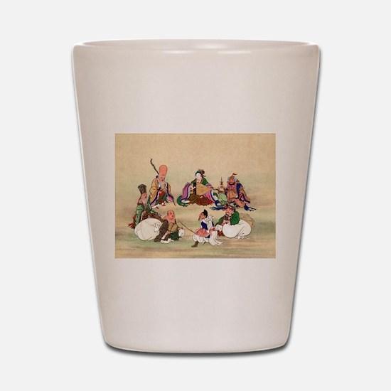 Seven gods of good luck - Anon - 1878 Shot Glass