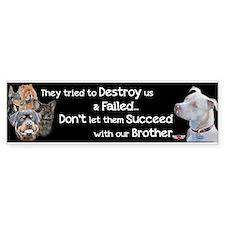 Save the Pitbull Car Sticker