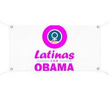 Latinas for Obama Pink Banner