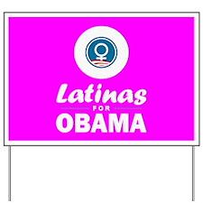 Latinas for Obama Pink Yard Sign