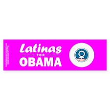 Latinas for Obama Pink Stickers