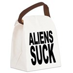 alienssuck.png Canvas Lunch Bag