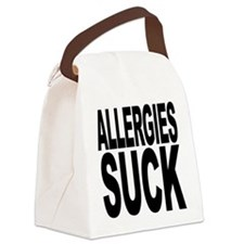 allergiessuck.png Canvas Lunch Bag