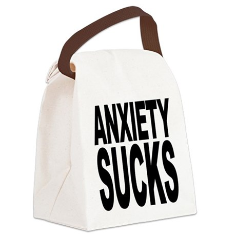 anxietysucks.png Canvas Lunch Bag