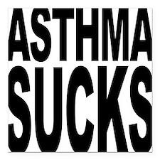 "asthmasucks.png Square Car Magnet 3"" x 3"""