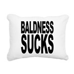 baldnesssucksblk.png Rectangular Canvas Pillow