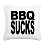 bbqsucks.png Square Canvas Pillow