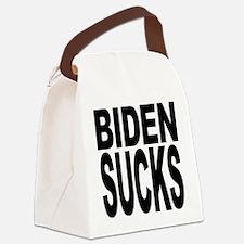 bidensucksblk.png Canvas Lunch Bag