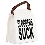 bloggerssuckblk.png Canvas Lunch Bag