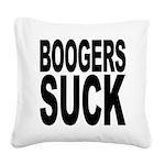 boogerssuckblk.png Square Canvas Pillow
