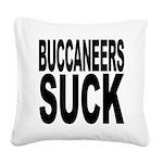 buccaneerssuck.png Square Canvas Pillow