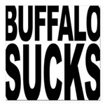 buffalosucks.png Square Car Magnet 3